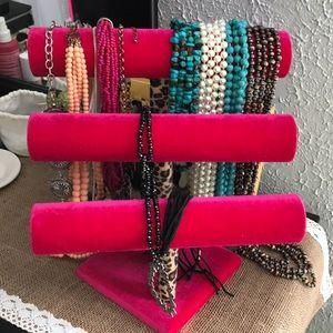 Jewelry - Pink Velvet jewelry stand